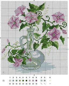 This Pin was discovered by Nur Cross Stitch Love, Cross Stitch Borders, Cross Stitch Flowers, Cross Stitch Designs, Cross Stitching, Cross Stitch Embroidery, Cross Stitch Patterns, Mosaic Flowers, Crochet Cross