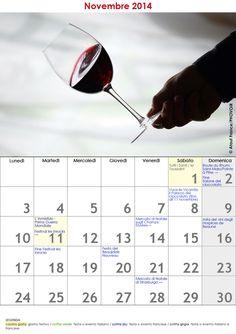 VERSIONE STAMPABILE:http://it.res.rendezvousenfrance.com/Calendario/Novembre2014_vino.jpg #RDVFrance #ViaggiFrancia