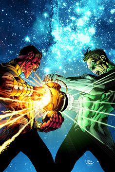 Sinestro and Green Lantern