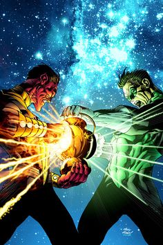 Sinestro and Green Lantern