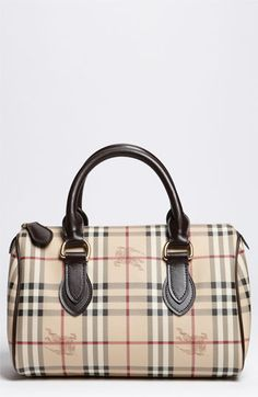Burberry 'Haymarket Check' Satchel available at #Nordstrom I THINK i may buy this bag:)