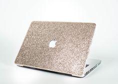 Glitter Macbook Case- Champagne Gold