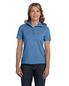 Available in Colors; (White, Pink, Carolina Blue, Light Blue, Pale Pink, Deep Forest, Light Steel, Ash, Black, Deep Red, Navy, Deep Navy, Deep Royal, Maroon. Ladies035cottontshirt, #womenpiquépolo, #haneswonenpoloshirt, #hanesladiescomfortsofttshirt, #hanescomfortsoftcottonpique