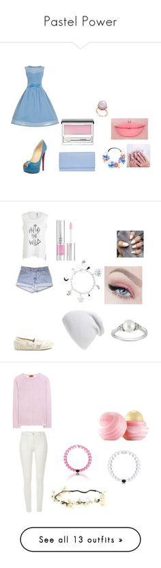 """""""Pastel Power"""" by kaetheturtle on Polyvore featuring Christian Louboutin, Smythson, Forever 21, Clinique, women's clothing, women's fashion, women, female, woman and misses"""