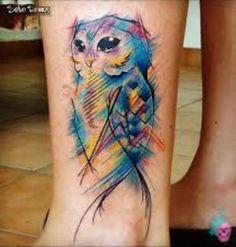 tattoo coruja aquarela - Pesquisa Google