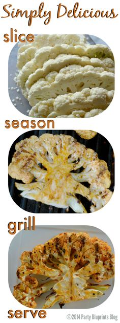 Cauliflower Steaks. Marinated in onion, garlic, paprika, lemon juice and olive oil, these beauties are grill-ready in no time!