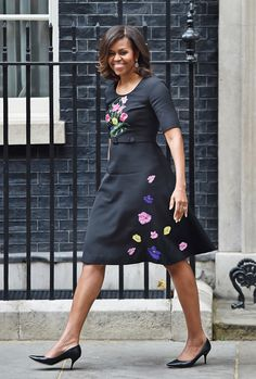 Michelle Obama's Best Looks Ever - 2015 - Christopher Kane from #InStyle : In the United Kingdom