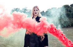 color bomb by arazugur #smoke #fashion #portrait