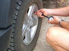 Tire pressure on sedan cars