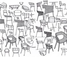 Designs for Benjamin Hubert's Maritime chair. Love the thought process.