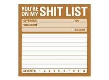 Shit List Sticky