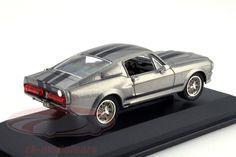 CK-Modelcars - 86411: Ford Mustang Shelby GT500E Eleanor Gone in 60 seconds grau 1:43 Greenlight, EAN 810166010160Hersteller: Greenlight Maßstab: 1:43 Fahrzeug: Ford Mustang Shelby GT500 Serie: Film Gone in 60 Seconds Baujahr: 1967 Artikelnummer: 86411 Farbe: grau metallic / schwarz EAN 810166010160
