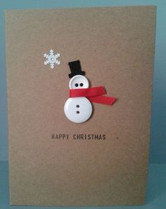 ▷ ideas - make Christmas cards - great gift ideas for you - DIY - Weihnachten - Noel Homemade Christmas Cards, Christmas Cards To Make, Homemade Cards, Christmas Holidays, Christmas Christmas, Chrismas Cards, Christmas Greetings, Christmas Card Ideas With Kids, Christmas Sayings