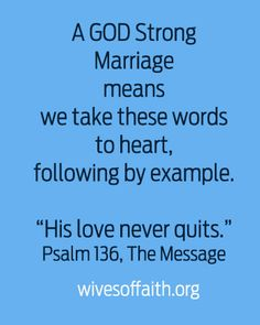 Growing a GOD Strong Marriage   One word wives can remember when thinking about how God uses them to help their families. INFLUENCE.
