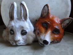 Alice in Wonderland Papier mache fox mask fox costume by MiesmesaBerni on Etsy https://www.etsy.com/listing/130093738/alice-in-wonderland-papier-mache-fox