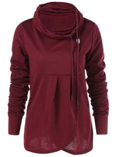 Cowl Collar Pullover Sweatshirt