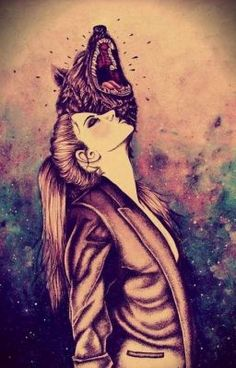 You don't need to know my name but i go by Red.Daughter of the wolf and little red riding hood.im 16 and single I can change from wolf to girl and have wolf ears and a tail with gold eyes. Fantasy Kunst, Fantasy Art, She Wolf, Spirit Animal, Wolf Spirit, Character Inspiration, Urban Art, Cool Art, Art Drawings