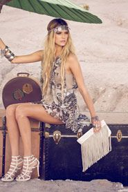 Boho Boho--sorry to have see you go!  Love this boho/gypsy style that shares some 20's flapper vibes!!!  Hippie Couture blog