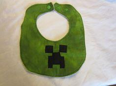 MIne Craft baby bib by ThisIsCrazyCute on Etsy, $4.00