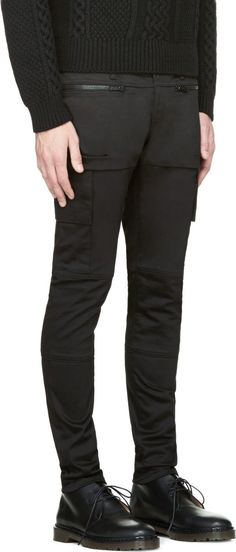 Undercover: Black Cargo Pocket Zipper Trousers | SSENSE