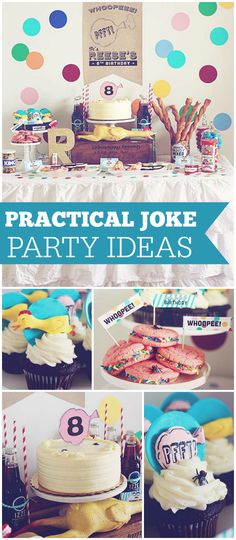 What a funny party! Lots of jokes and gags! See more party planning ideas at CatchMyParty.com!