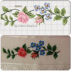 Cross Stitching, Cross Stitch Embroidery, Cross Stitch Patterns, Cross Stitch Fruit, Cross Stitch Flowers, Ethnic Bag, Cross Stitch Collection, Rico Design, Embroidered Clothes