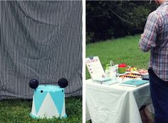 strong man photo booth.... Cute idea for a Carnival Party
