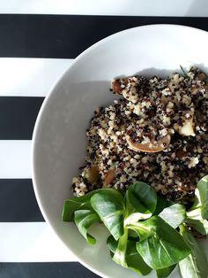 Quinoa s kuskusem, cuketou, žampiony a česnekem Quinoa, Acai Bowl, Healthy Recipes, Baking, Breakfast, Fit, Google, Bulgur, Acai Berry Bowl