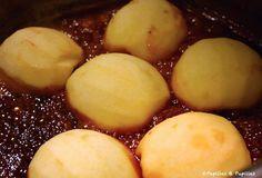 Pommes au four dans le caramel