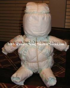 undecorated diaper baby before putting outfit onYou can find Diaper babies and more on our website.undecorated diaper baby before putting outfit on Shower Bebe, Baby Shower Fall, Baby Boy Shower, How To Make A Diaper Baby, Gamer Gift, Diaper Cakes Tutorial, Baby Shower Crafts, Shower Gifts, Baby Shower Invitaciones