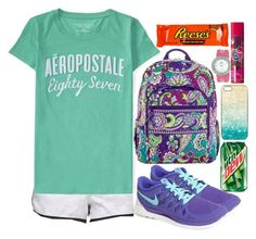 """""""Blaring"""" by eemsles ❤ liked on Polyvore featuring NIKE, lululemon, Aéropostale, JFR, Vera Bradley and River Island"""