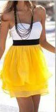 Blanco, negro y amarillo