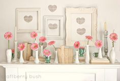 One more time! Sweet and romantic Valentine's mantel from Craftberry Bush: Valentine's Day Mantel (deleted scenes, takes 1 and 2)