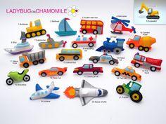 VÉHICULES et transports senti aimants - prix par 1 point-faitesent votre propre jeu - voiture, moto, Train, sous-marin, navette spatiale, camion, bateau, Bulldozer