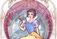 In 2008, Disney released their short-lived Art Nouveau princess collection of faux stained glass hangings, trinket boxes, journal books, and shirts. Each of the main princess characters were reproduced in a style after one of Mucha's famous paintings. Ed Irizarry conceived and sketched the designs for the princesses and Enrique Pita colored them.