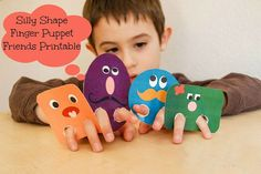Finger Puppets Made With Paper