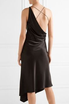 Black stretch-silk satin and tulle   95% silk, 5% elastane; trim: 100% polyester Dry clean Made in Italy