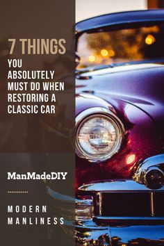 Restoring a classic car can be a fantastic way to bring a piece of automotive history back to life, especially if you've found a rare model that needs a bit of extra TLC. Here are 7 things that need to be on your list of things to do when restoring a classic car, just to make sure that all your Ts are crossed, Is are dotted, and bolts are properly torqued. // Classic Car // Antique Cars // Restoring Cars //