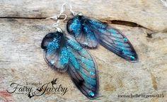 Orecchini ali libellula celeste blu argento 925 , by Evangela Fairy Jewelry, 13,00 € su misshobby.com