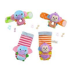 Oferta: 5.99€ Dto: -43%. Comprar Ofertas de YeahiBaby 4pcs bebé muñeca animales sonajeros infantil manos pies buscadores desarrollo peluches (mono y elefante) barato. ¡Mira las ofertas!