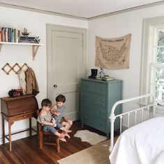 Painted trim with white walls Big Boy Bedrooms, Girls Bedroom, Boy Room, Kids Room, Home Depot, Kid Spaces, House Rooms, Room Inspiration, Room Decor