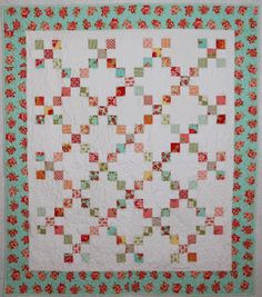 loving this simple 9 batch Irish chain quilt.
