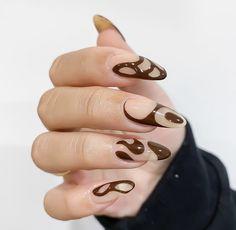 Edgy Nails, Polygel Nails, Funky Nails, Nail Manicure, Swag Nails, Hair And Nails, Nail Design Stiletto, Nail Design Glitter, Nails Ideias