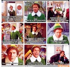The best of buddy the elf! Christmas Lodge, White Christmas, Merry Christmas, All Things Christmas, Christmas Themes, Xmas Elf, Favorite Movie Quotes, Buddy The Elf, Holiday Time
