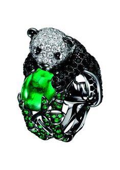 Boucheron panda ring.