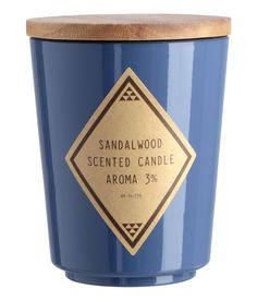 Bougie parfumée - Bleu pigeon/Sandalwood - Home All Scented Candles, Pillar Candles, New Interior Design, H&m Home, Glass Holders, H&m Online, Things To Buy, Tea Lights, Decoration