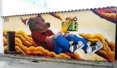 """297 curtidas, 1 comentários - @tschelovek_graffiti no Instagram: """"""""Os regalo mis sueños"""" by @freskales in Las Mesas, Cuenca, Spain. #freskales #LasMesas…"""""""