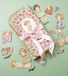 DOLLY TRAVEL CARRIER, Paper Doll Fabric Sewing Kit-Quilters World-w/ Novelty Fabric and Free Pattern