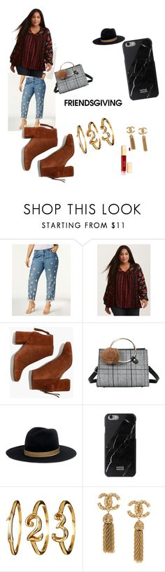 """""""Hiii"""" by tiffne-1 ❤ liked on Polyvore featuring Michael Kors, Torrid, Madewell, Janessa Leone and plus size clothing"""