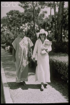 Robert  and  Dorothy  wearing  kaftans, in  France  in  1972.